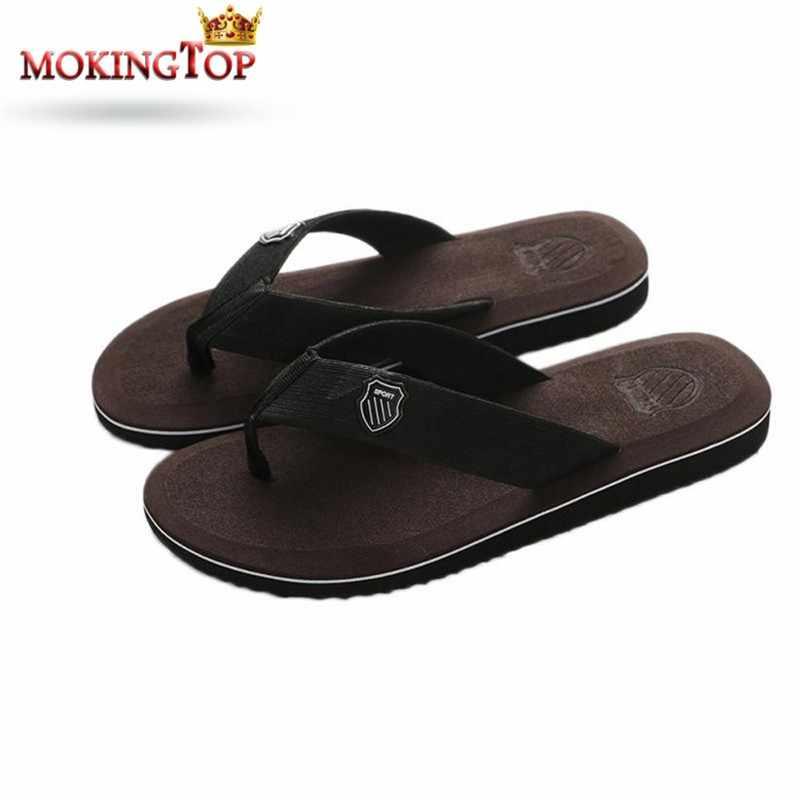96449037d59 Mokingtop verano playa Zapatillas para hombre chanclas Zapatillas Hombre  zapato hogar Sandalias zapatilla interior plana Sandalias