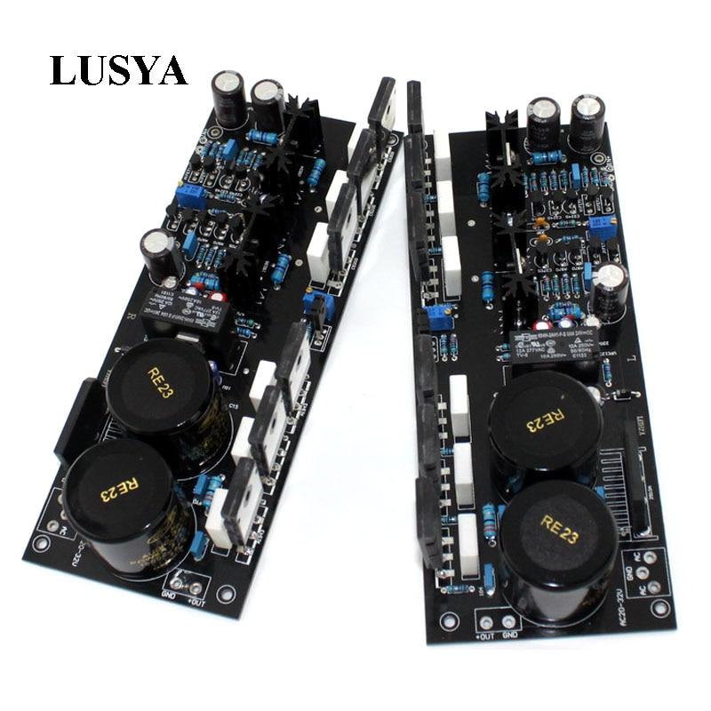 Lusya TT1943/5200 A2 FET amplificateur à plaque symétrique assemblé carte AC double 20 32V 2 canaux amplificateur audio carte 150W * 2 T0357-in Amplificateur from Electronique    1