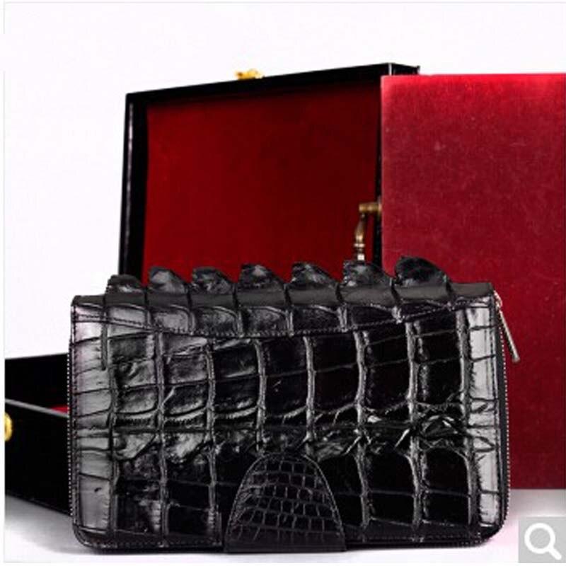 pulafu Crocodile Leather man handbag crocodile leather business men wallet male bag black men clutch bag crocodile crocodile cr225r black gold page 8