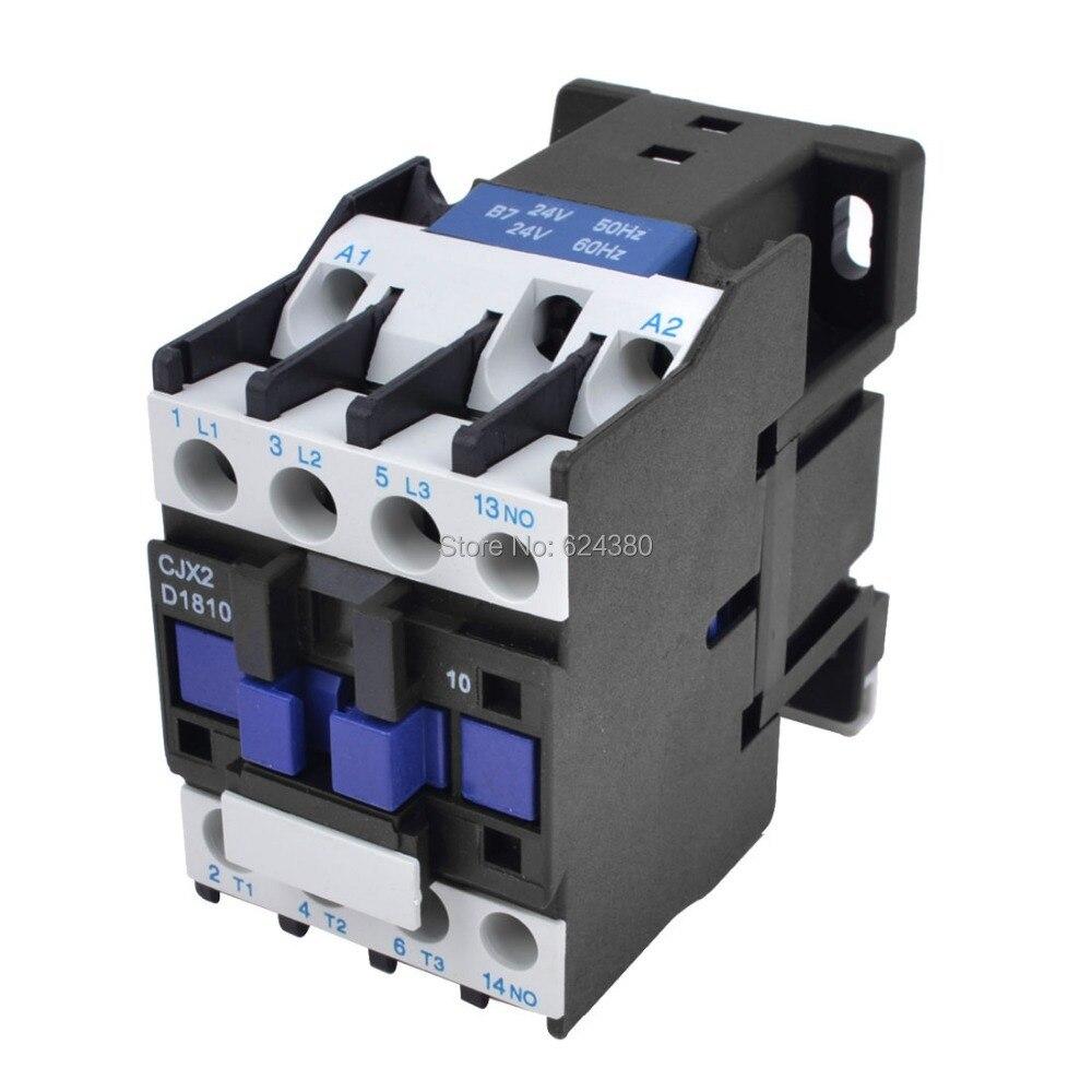 CJX2-1210 690V 3 Phase 3P NO AC Contactor DIN Rail Mount AC 110V Coil