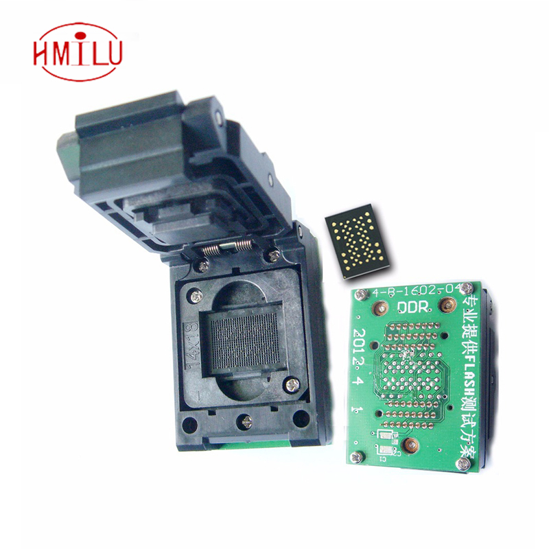 LGA52 DIP48 Pogo pin IC Test Socket With Board Flash Programmer Adapter Burn in Socket Cleamshell Structure Adapter LGA52 socket emcp221 usb test aging test board emcp fbga221 programmer adapter reader test socket size 14 18 development board free shipping