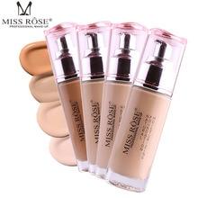 купить 1Pcs Foundation Soft Matte Long Wear Oil Control Concealer Liquid Foundation Cream Makeup Base Nude Face Liquid Cover Concealer по цене 490.37 рублей