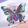 Joyería de la vendimia Grande Esmalte Esmaltes Mariposa Broches Ramillete Broche Lot Violetta Insectos Hijab Pin Up Broches Broche de La Boda