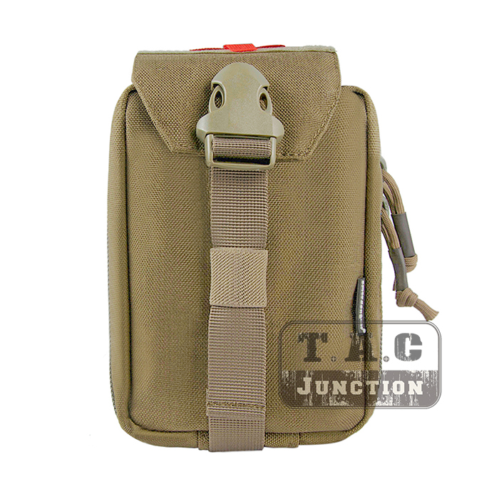 Emerson Tactical MOLLE First Aid Kit Pouch EmersonGear Medical Carrier Medic Rip-Away EMT IFAK Survival Bag W/ Zipper