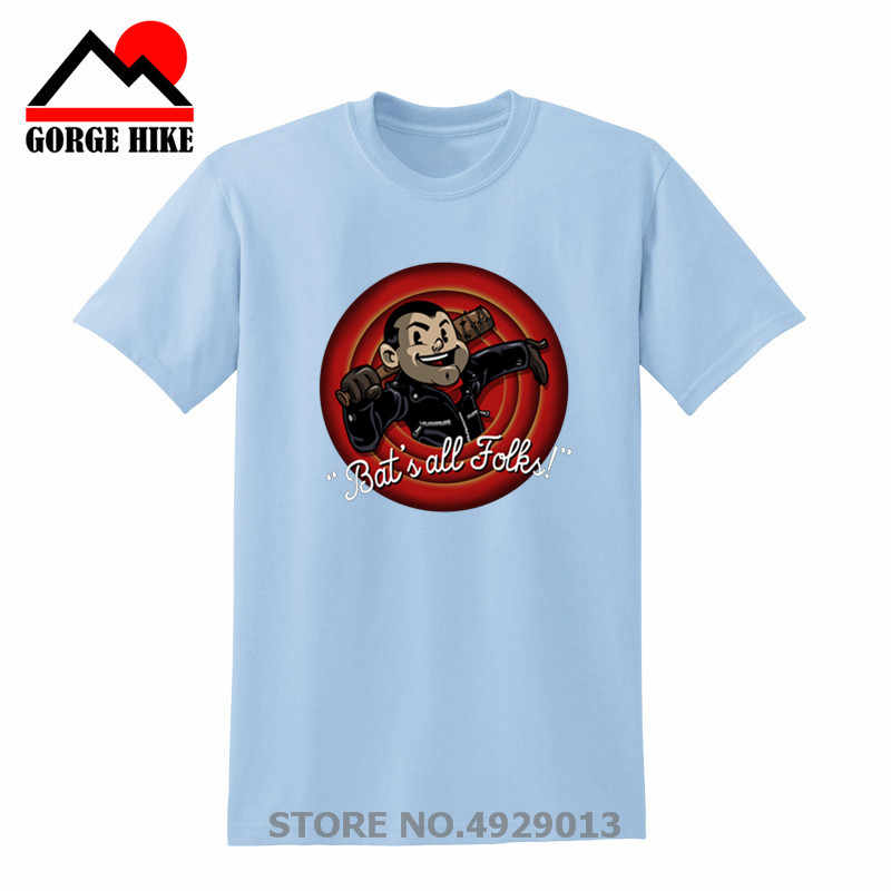 2019 Lucille Tシャツ男性バットのすべて人たち Camiseta 緩いウォーキング · デッド Tシャツ Negan 男半袖 O ネック Teenboy 服