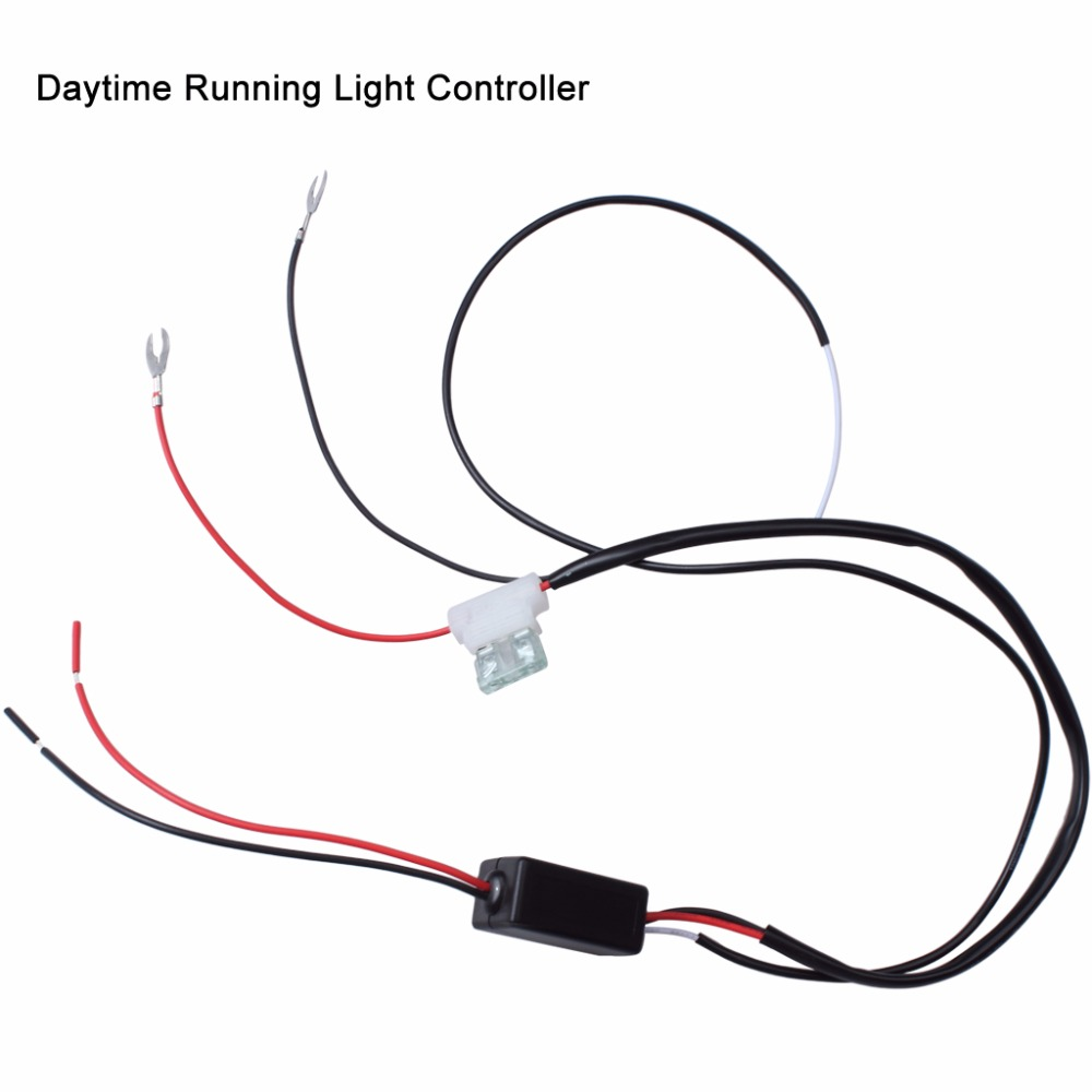 car drl controller auto daytime led running light lamp bulb reduce relay harness dimmer flasher