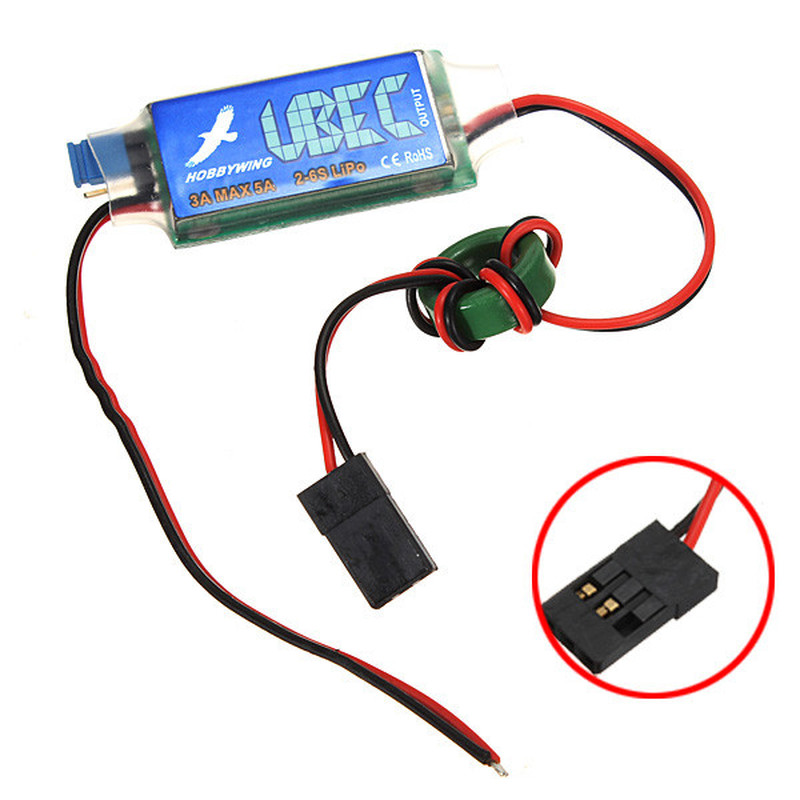Hobbywing 3A UBEC 5V 6V Max 5A Lowest RF Noise BE Switching Regulator HWBEC  For RC Airplane Helicopter Models