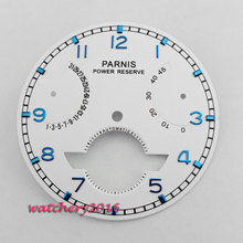 37mm Parnis Repair Tools Power reserve Date adjust White Dial fit ST2505 automatic movement men s