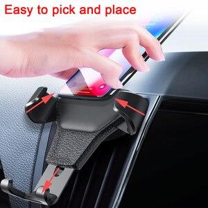 Image 3 - Support universel de voiture pour téléphone portable dans le support de montage dévent de voiture support pour téléphone Mobile pour iPhone 11 6 6s Plus support de cellule de Smartphone de gravité