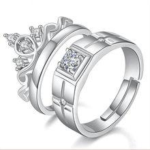 Женское кольцо с короной и сердцем серебряное кубическим цирконием