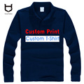 Custom Made logo Polo shirts personal custom DIY Logo Men's long sleeve Shirt Customized designer Mix colour 100% cotton Polos