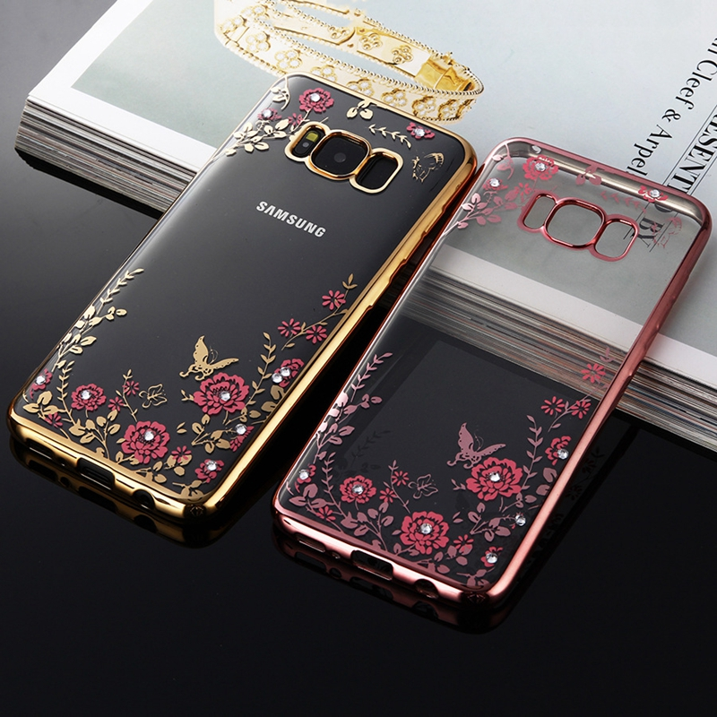Nephy Diamond TPU Case For Samsung Galaxy A3 A5 A7 J1 J2 J3 J5 J7 Neo 2015 2016 2017 Core Grand Prime Plating Frame Cover