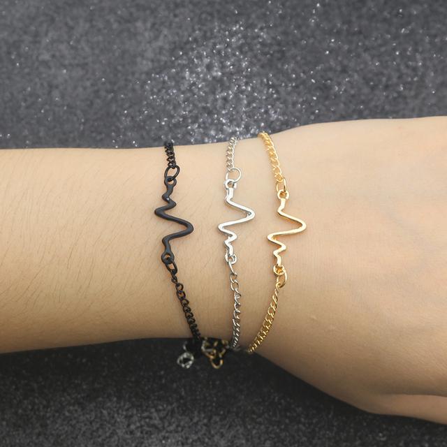 Minimalist Heartbeat Bracelet