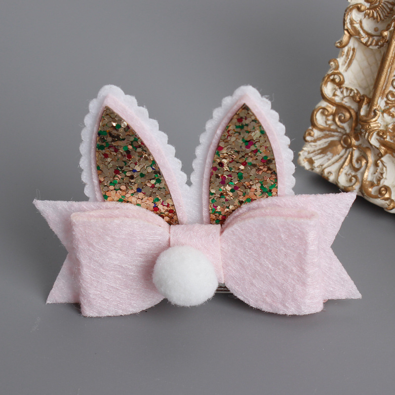 1 PCS Cute Cartoon Double Rabbit Ears kids Hairpins Children Headwear Baby Hair Clips Princess Barrette Girls Hair Accessories 2 pcs 2017 new korean striped bowknot cute baby clip girls hairpins cartoon kitten hair clips kids children accessories