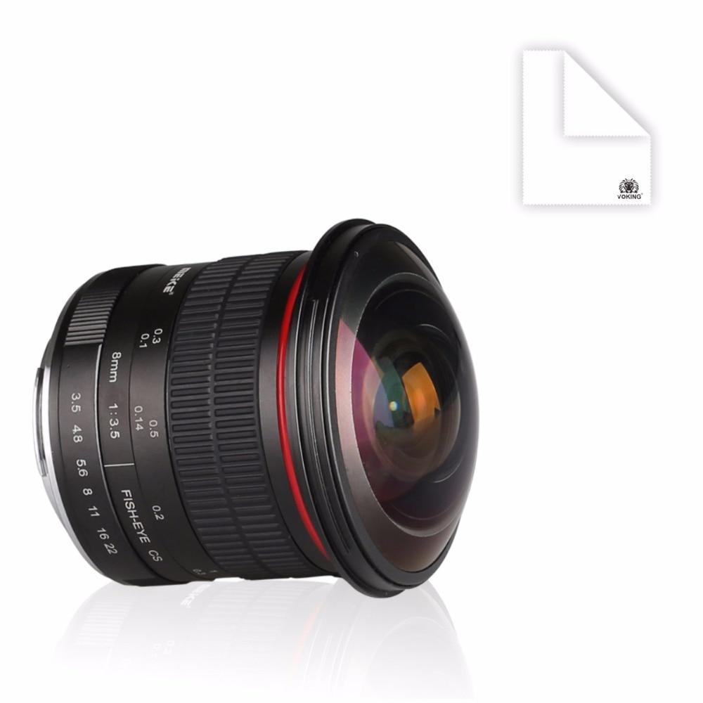 Meike MK-EF-8-3.5 8mm f/3.5 Fisheye Lens for Canon DSLR Cameras with APS-C/Full Frame metco meike mk f af3 fuji микро сингл крупным планом кольцо