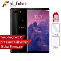 Оригинальный zte Нубия Z17S мобильный телефон с 4 камеры 6 ГБ + 6 4G B 8 ГБ + 128 ГБ полный Экран отпечатков пальцев Snapdragon 835 4G LTE Smartphon