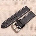 Качество Кожаный Ремешок для часов 24 мм 26 мм Черный водонепроницаемый Замена кожаный ремешок Для Panerai