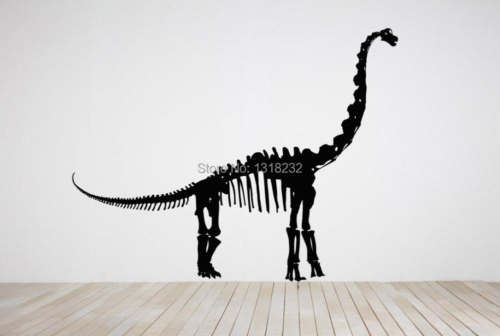Huge Dinosaur Skeleton Vinyl Wall Decal Animal Skeleton Mural Art Decor Bar Wall  Sticker Bedroom Living