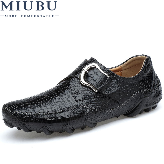 898d943ab35 MIUBU Brand Soft Leather Male Men Shoes Adult 2018 New Autumn/Winter Warm  Short Plush Footwear Casual Hollow Out Sneakers