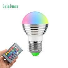 1 יחידות יפה 16 צבעים RGB חג המולד דקור אווירה LED לילה אור E27 5 w 110 v 220 v LED זרקור מנורת הנורה + IR מרחוק