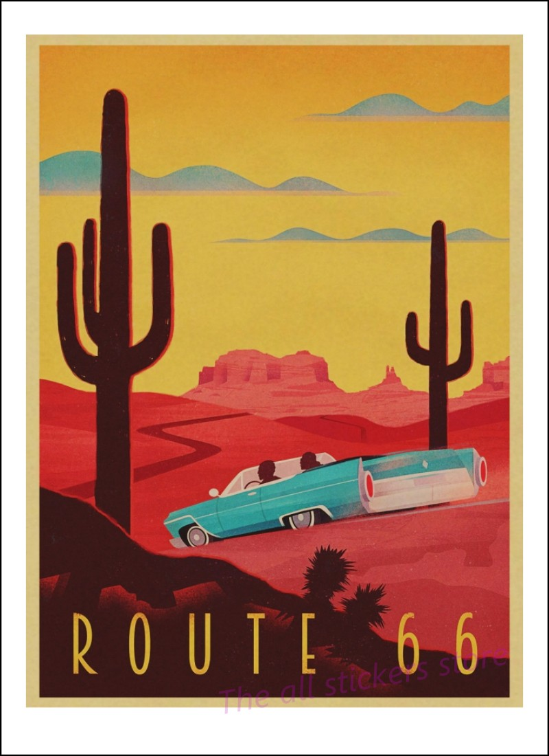 Vintage-Styled Travel Posters