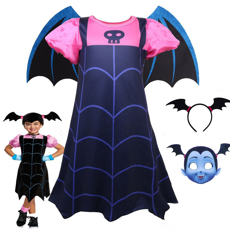 Hot Baby Girls Dress Vampirina  Lady Bug Vestidos Christmas Princess Costume For Kids Clothes Children Halloween Cosplay Dresses
