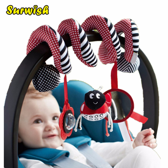 Surwish Cute Infant Babyplay Baby Toys Activity Spiral Bed & Stroller Toy Set Hanging Bell Crib Rattle Toys For Baby