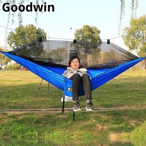 Image 1 - Hängematte Mit Bug Net Tragbare Camping Hängematte Moskito