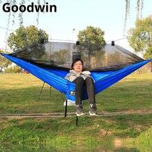 Hamaca con mosquitera portátil para acampar