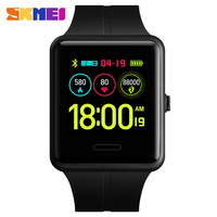 SKMEI 1525 New Color Display Smart Watch Men Bluetooth Heart Rate Blood Pressure Pedometer LED Sport Watch For Android IOS
