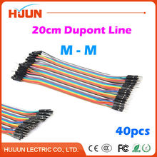 40pcs/lot Dupont Cable Jumper Wire Dupont Line Male to Male Length 20cm for Arduino
