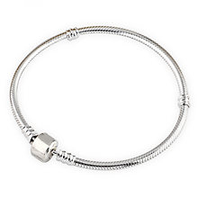 Authenetic 925 Sterling Silver Bracelet Snake chain Lobster Clasp Basic Bracelet Bangle Fit Women Bead Charm DIY Pandora Jewelry(China)