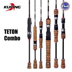 Combo KUYING TETON 1,56 m 1,8 m 1,86 m 1,9 m 1,92 1,98 m carbono súper ultraligero suave cebo de fundición señuelo giratorio caña de pescar