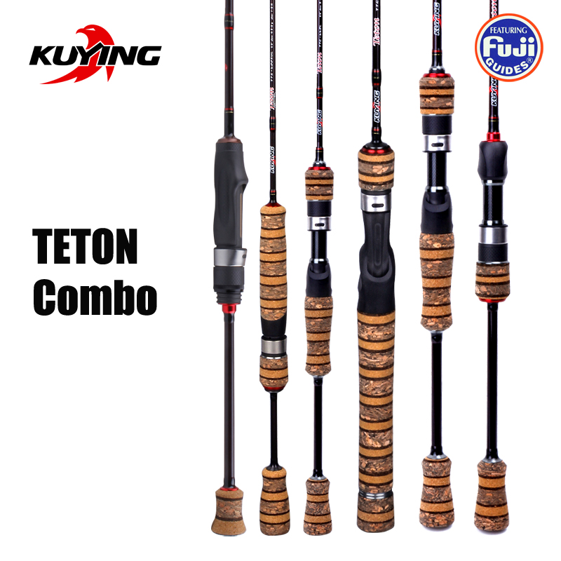 KUYING TETON Combo 1.56m 1.8m 1.86m 1.9m 1.92 1.98m Carbon Super Ultra Light Soft Baitcasting Casting Spinning Lure Fishing Rod