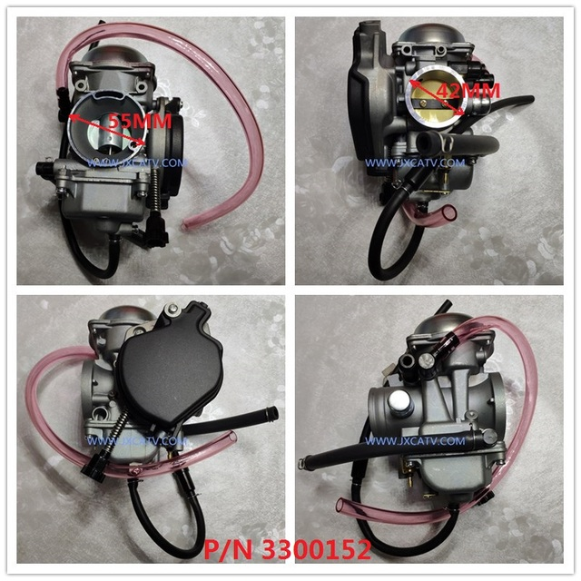 US $31 5 |Carburetor Carb for Polaris Sportsman 500 & ARCTIC CAT ATV 250  300 2X4 4X4 GREEN RED & Bombardier Can Am OUTLANDER MAX 400-in ATV Parts &