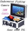 "30 m cable hd sony ccd 600 tvl 7 ""TFT LCD a Color de Cámara Submarina Pesca CCTV Cámara de Vídeo de La Cámara De Aluminio"