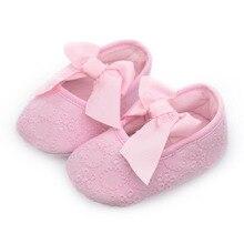 Весенняя детская обувь для девочек; модная обувь для маленьких девочек с мягкой подошвой; детская обувь с бантом-бабочкой
