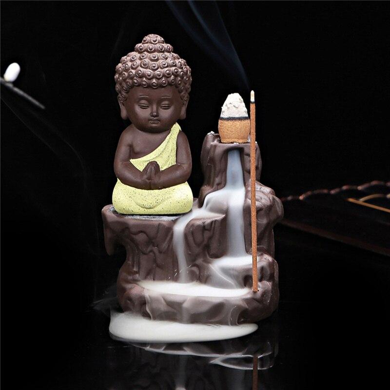 Китайский стиль Будда керамическая Курильница держатель набор с joss палочки домашний Декор Гостиная Спальня украшение офиса - Цвет: beige