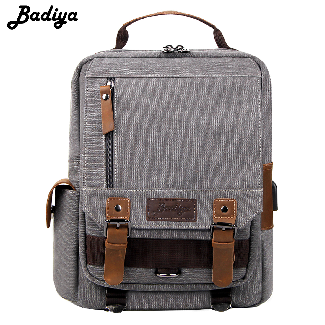 New Fashion Canvas Travel Backpack Men Solid Multi-function Laptop Backpack Male High Quality USB Charging Travel BagNew Fashion Canvas Travel Backpack Men Solid Multi-function Laptop Backpack Male High Quality USB Charging Travel Bag