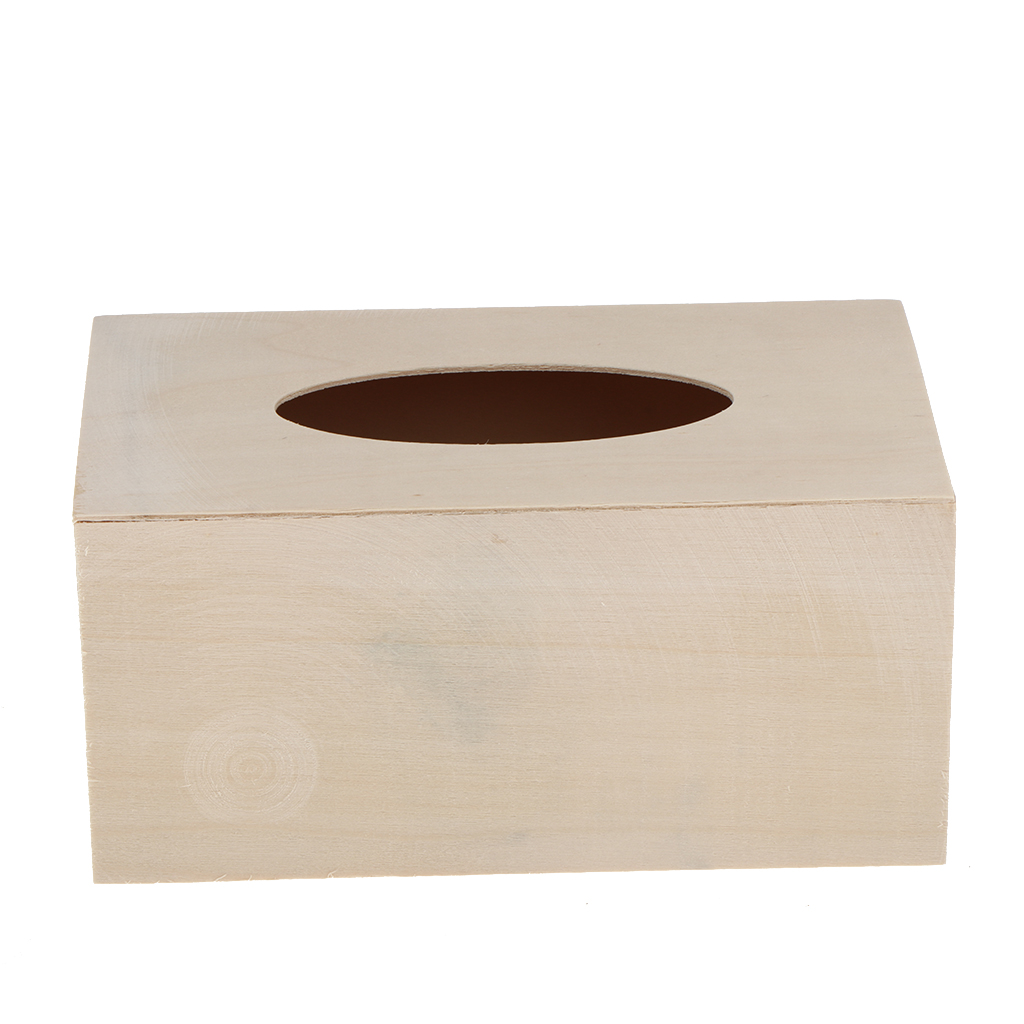 Us 7 36 18 Off Unfinished Wood Tissue Box Holder Natural Wooden Cover Home Decoration In Bo From Garden On Aliexpress