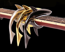 Shark Guitar Capo Funny Creative Zin Alloy Quick Change Clamp for Acoustic Electric Guitarra Bass