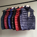 Classic solid color vest men Ultralight Light 90% Duck Down Vest loose men waistcoat Vest Sleeveless jacket