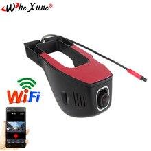 Whexune wifi carro dvr traço cam fhd 1080p visão noturna escondida dashboard câmera carro gravador de condução de vídeo veículo câmera g-sensor