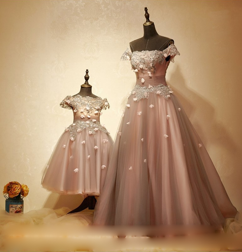 Dannifore Custom Made Mother And Daughter Dresses Beaded