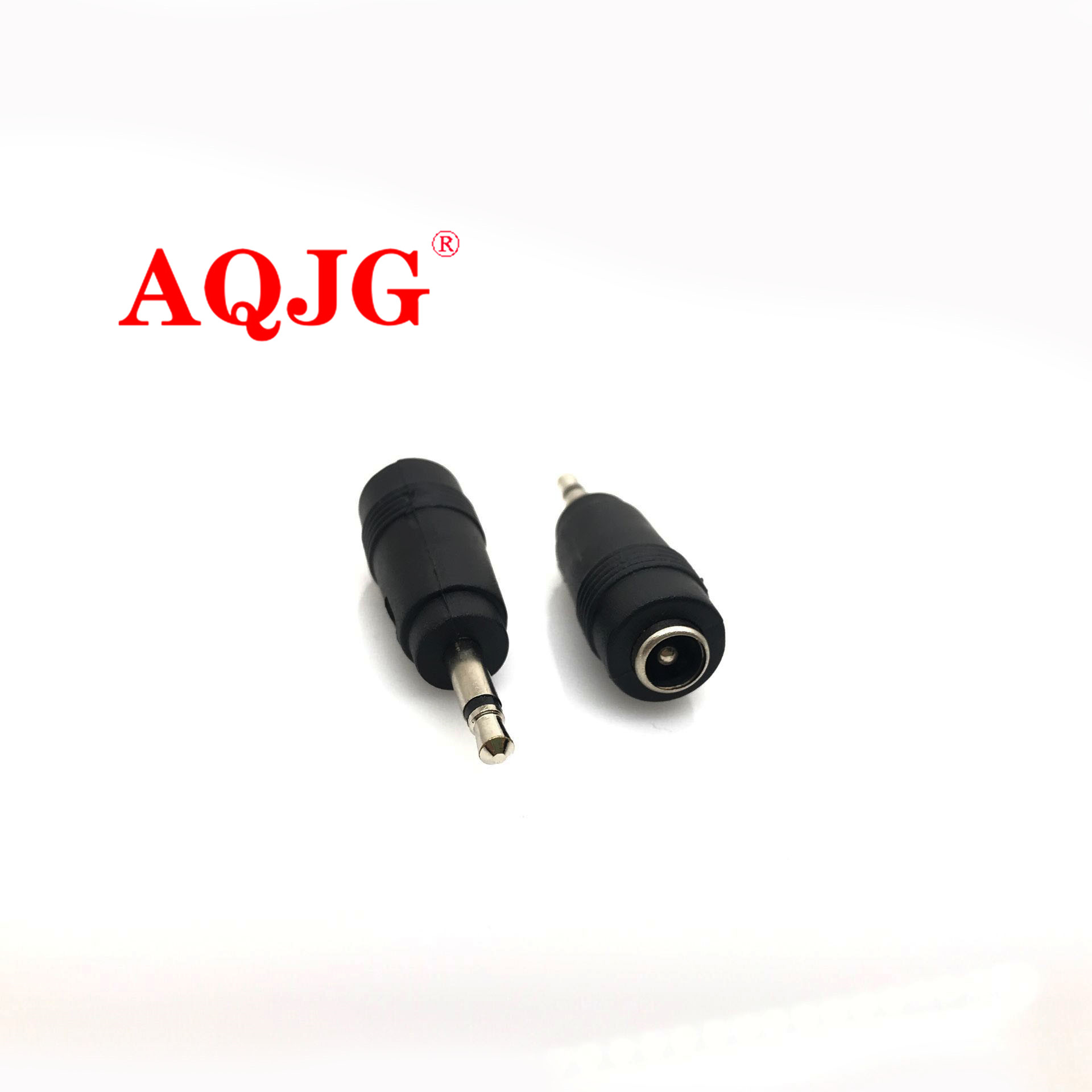 2pcs 3.5mm 2 Pole Mono Plug To 5.5x2.1mm Female Jack Connector 3.5 To 5.5*2.1 Mm Plug DC Power Connector Adapter Laptop