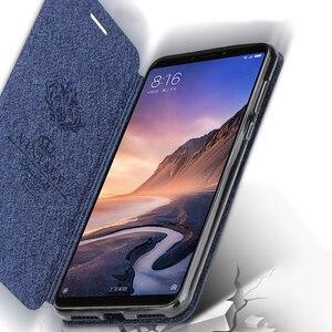 Image 2 - For Xiaomi mi max 3 case soft silicone for xiaomi max 3 case cover flip leather Mofi original for xiaomi mi max3 case TPU funda