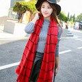 Мода 2016 дизайн известная марка Кашемир шарф женщины Одеяло Долго Шерсть мягкая смесь платок Плед Пашмины пончо cachecol