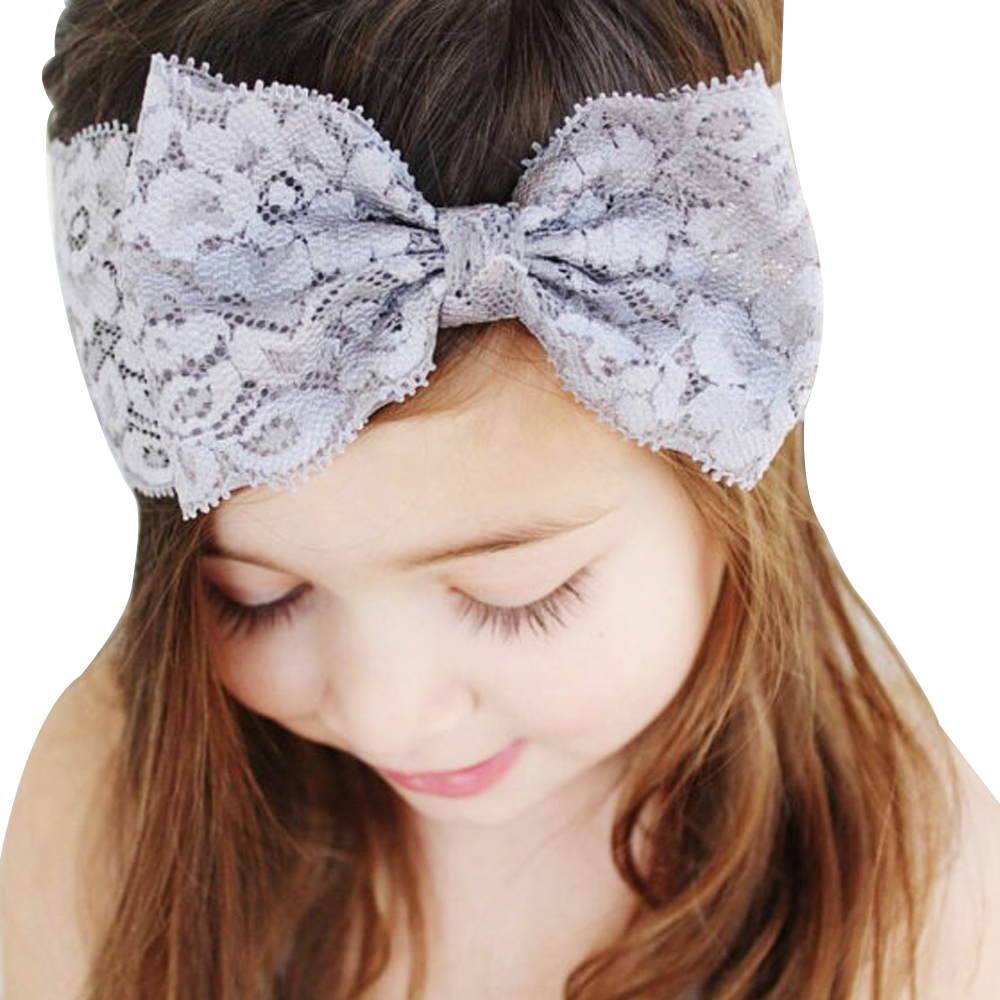 2018 Hot Sale Cute Girl New Lace 8 Colors bow Headbands lovely Bow Hairpins Hair Ribbon Floral Polyester Hair Accessories H426 cute hot sale stripe design pantyhose for girl