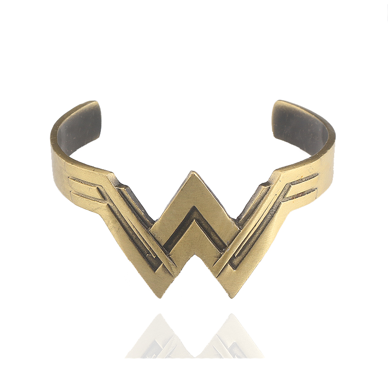 Movie Jewelry Wonder Woman Charm Bangle Diana Prince Tiara Käevõrud Bangles naistele Meeste ehtekingitused
