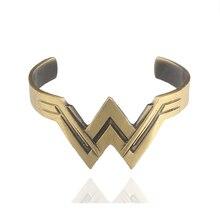 Movie Jewelry Wonder Woman Charm Bangle Diana Prince Tiara Bracelets Bangles for Women Men Jewelry Gift